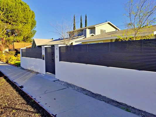 Hi-tech aluminum fence