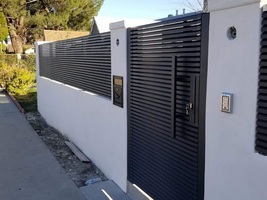 Hi-tech aluminum entry gate