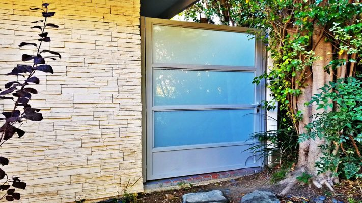 Aluminum and glass entry gate