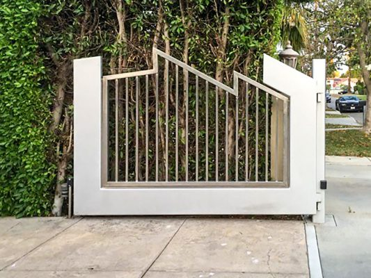 Stainless Steel gate with angled design