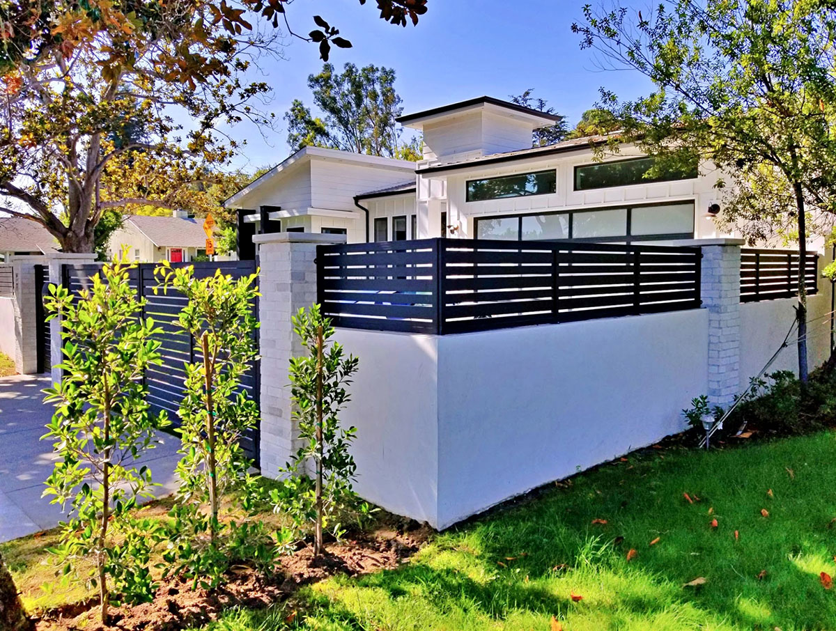 Black specialty aluminum fence