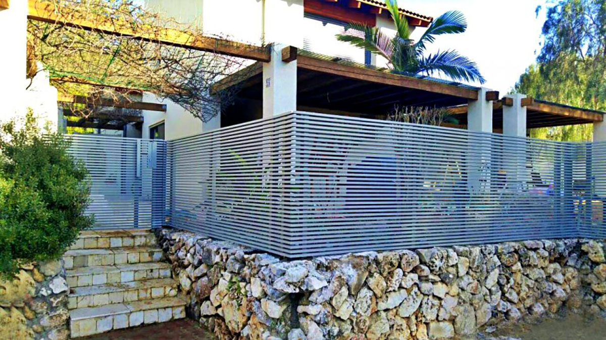 Gray Hi-Tech aluminum fence