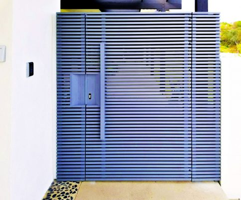 Gray Hi-Tech aluminum entry gate