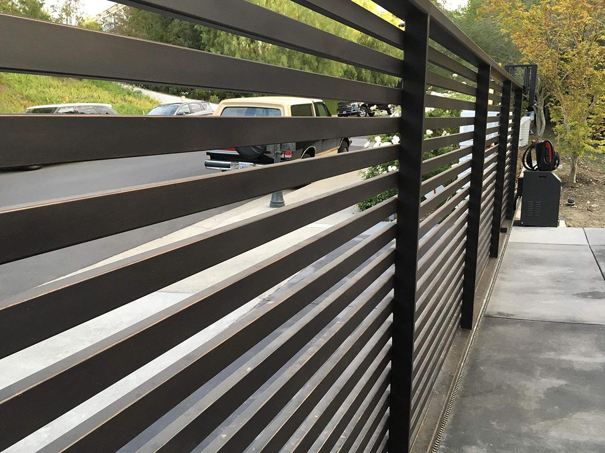 Specialty aluminum driveway gate