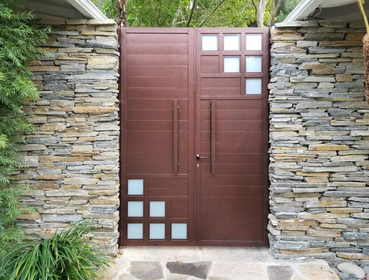 Brown Solid aluminum gate