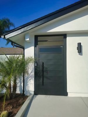 Solid aluminum entry way