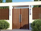 Woodlike aluminum gate