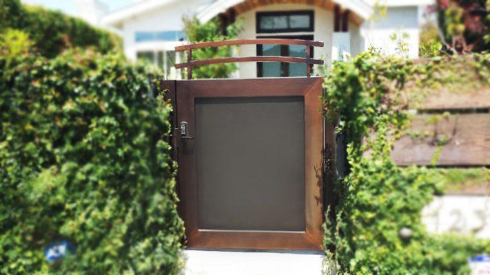 Wood entry gate