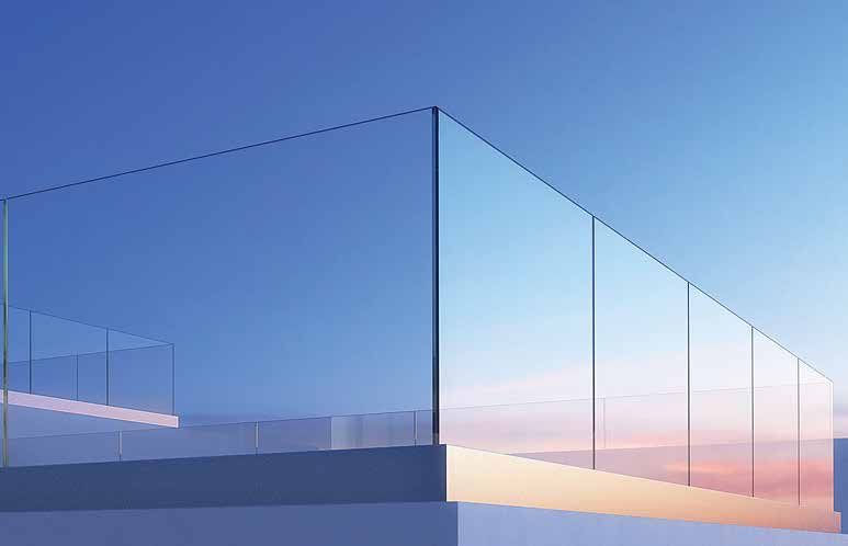 Crystal Balcony Railing