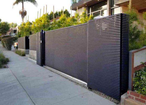 """""""Hi-Tech"""" Full Aluminum Semi-Privacy Gate"""