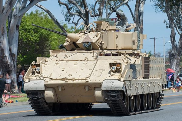 The aluminum Bradley Ingantry Fighting Vehicle