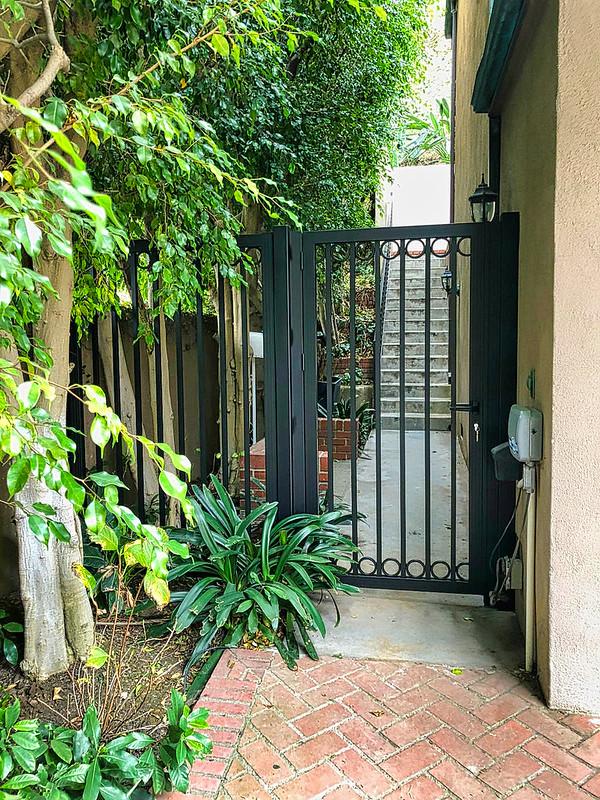 old world charm in modern aluminum gate