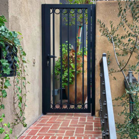 old world charm in modern aluminum gate